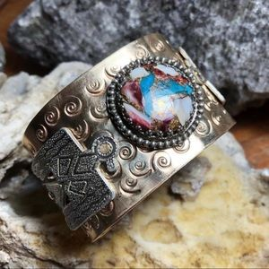 NEW Spiney Oyster Turquoise 925SS Cuff Bracelet